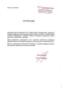 list referencyjny PKA SA